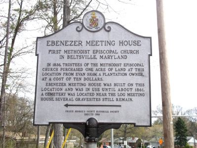 Ebenezer Meeting House Marker image. Click for full size.
