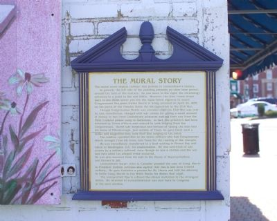 The Mural Story Marker image. Click for full size.