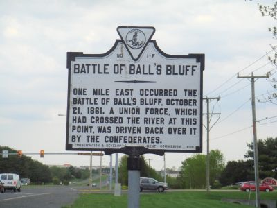 Battle of Ball�s Bluff Marker image. Click for full size.