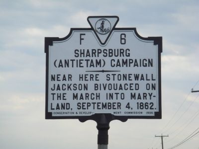 Sharpsburg (Antietam) Campaign Marker Photo, Click for full size