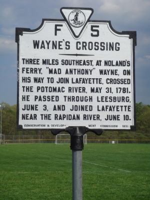Wayne's Crossing Marker image. Click for full size.