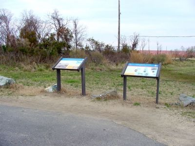 The Two Civil War Trail Markers image. Click for full size.