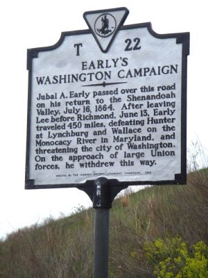Early�s Washington Campaign Marker Photo, Click for full size
