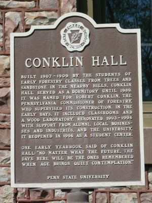 Conklin Hall Marker image. Click for full size.
