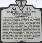 Barton Heights Cemeteries Marker image. Click for full size.
