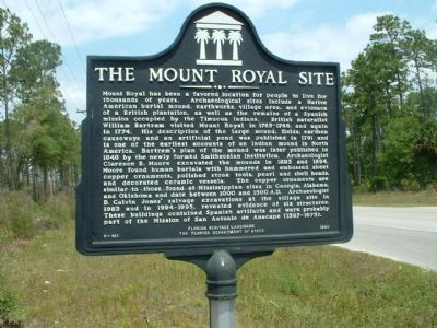 The Mount Royal Site Marker image. Click for full size.