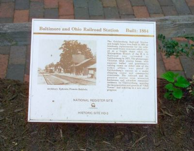 Baltimore and Ohio Railroad Station Marker image. Click for full size.