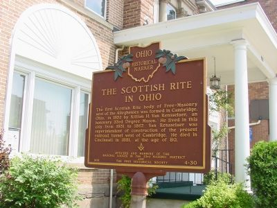The Scottish Rite in Ohio Marker image. Click for full size.