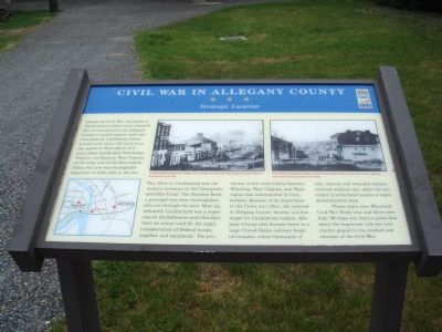 Civil War in Allegany County Marker Photo, Click for full size