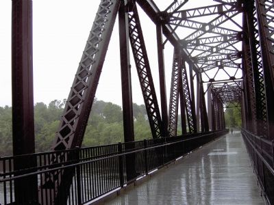 The Lewiston-Auburn Railroad Bridge Photo, Click for full size