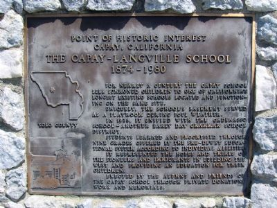 The Capay-Langville School Marker Photo, Click for full size