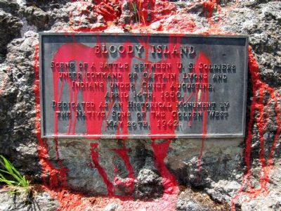Bloody Island Marker Photo, Click for full size