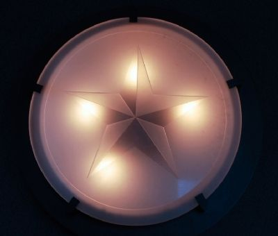Lighting inside the monument is dectorated with the Lone Star of Texas Photo, Click for full size
