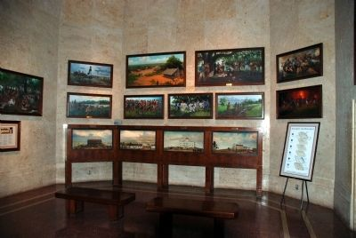 The monument contains a museum with a large quantity of original artwork and static displays image. Click for full size.