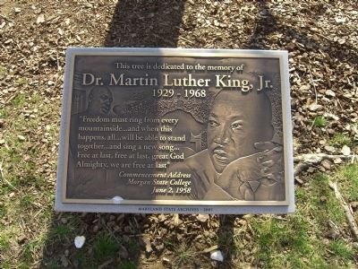 Dr. Martin Luther King, Jr. Memorial Tree Marker image. Click for full size.