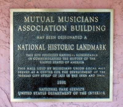 National Park Service plaque on front of building. image. Click for full size.
