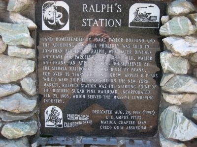 Ralph's Station Marker Photo, Click for full size