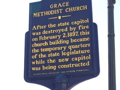 Grace Methodist Church Marker image. Click for full size.