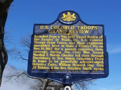 U.S. Colored Troops Grand Review Marker image. Click for full size.