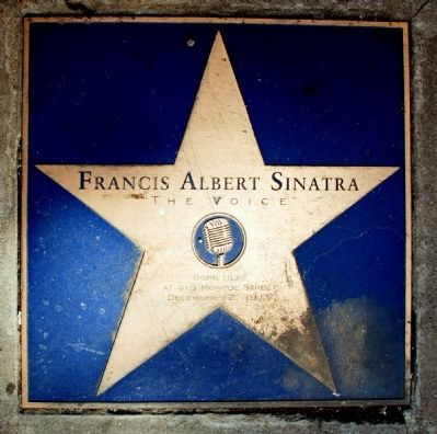 Frank Sinatra's Hoboken Star Photo, Click for full size