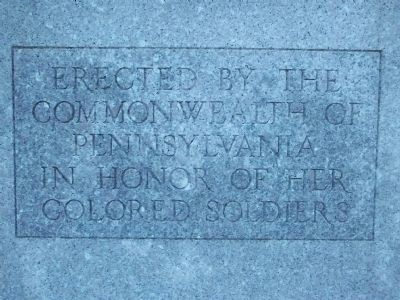 Inscription: Front of Memorial image. Click for full size.