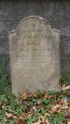 Center Headstone; Eliza Ann Green image. Click for full size.
