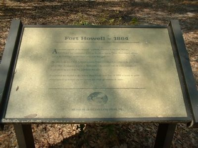 Fort Howell Marker Photo, Click for full size