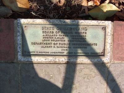 Dedication Plaque <i></b>[on North Side of Marker]</i> image. Click for full size.
