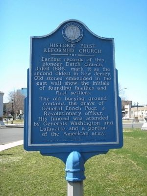 Historic First Reformed Church Marker image. Click for full size.