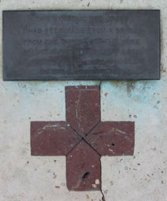 The Red Cross and Lower Plaque Photo, Click for full size