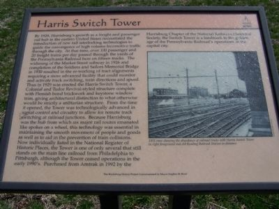 Harris Switch Tower Marker image. Click for full size.