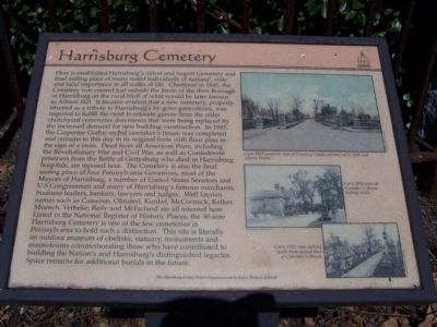 Harrisburg Cemetery Marker image. Click for full size.