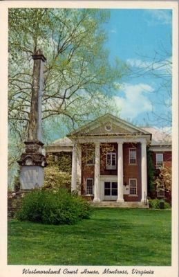 Westmoreland Court House, Montross, Virginia image. Click for full size.