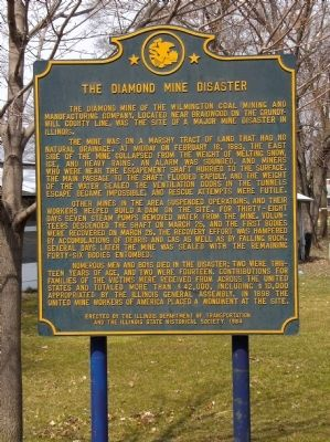 The Diamond Mine Disaster Marker image. Click for full size.