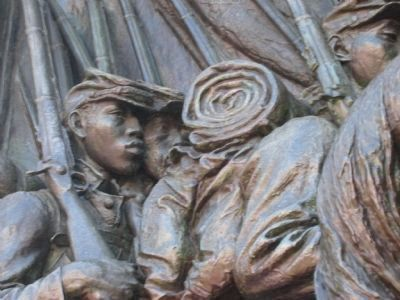 Black Soldiers in the memorial's relief image. Click for full size.