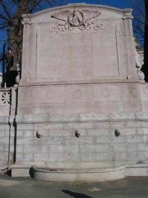 Back of the Memorial to Robert Gould Shaw and the Massachusetts 54th Regiment Marker image. Click for full size.