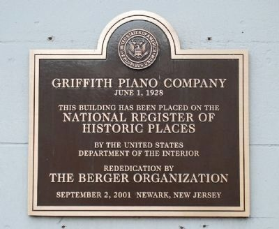 Griffith Piano Company Marker image. Click for full size.