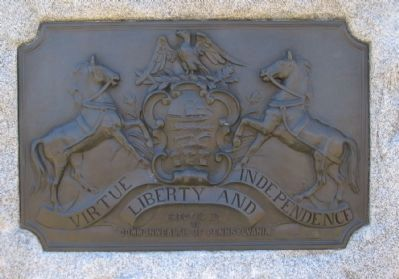 State Crest on the Rear of the Monument Photo, Click for full size