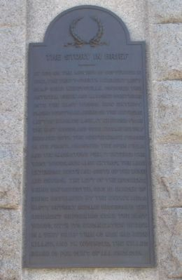 Right Side of Monument - The Story in Brief image. Click for full size.