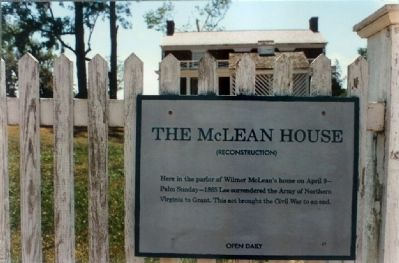The McLean House Marker image. Click for full size.