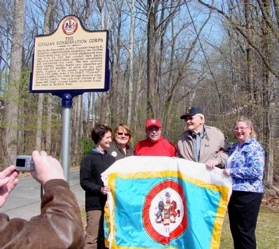 The Civilian Conservation Corps Marker Dedication image. Click for full size.