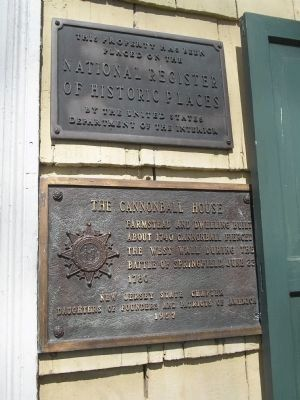 The Cannonball House Markers image. Click for full size.