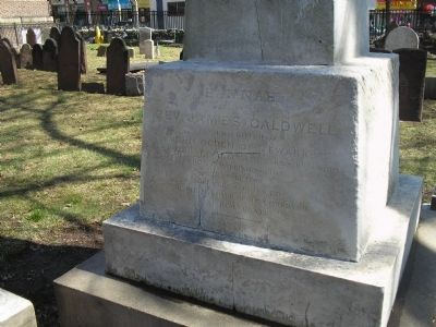 Closeup of Hannah Caldwell's Grave image. Click for full size.