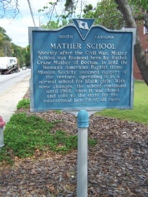 Mather School Marker Photo, Click for full size