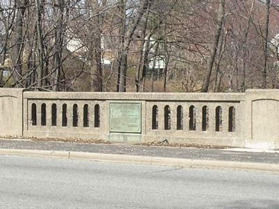 Col. Angell Marker on Bridge image. Click for full size.