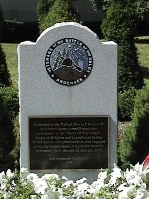 Battle of the Bulge Monument Marker image. Click for full size.