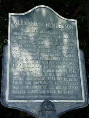 Alexander Henderson Marker Photo, Click for full size