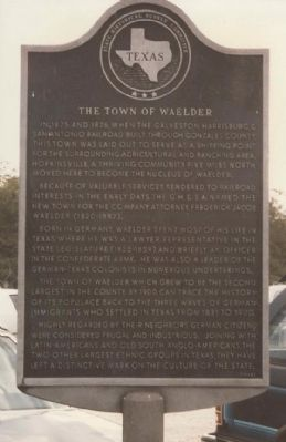 The Town of Waelder, Texas image. Click for full size.