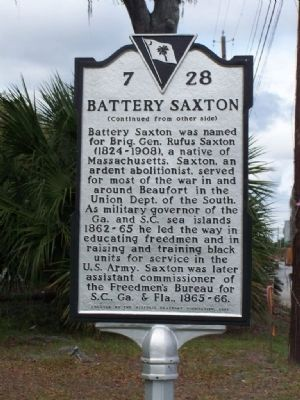 Battery Saxton Marker, side 2 image. Click for full size.