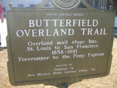 Butterfield Overland Trail Marker Photo, Click for full size
